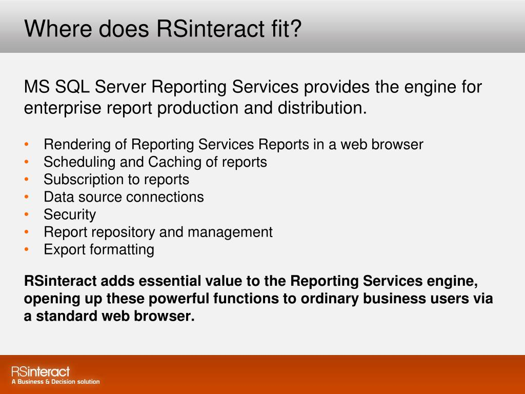 Where does RSinteract fit?