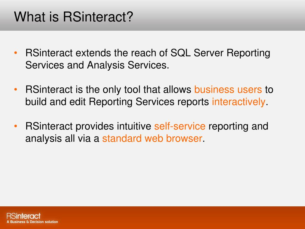 What is RSinteract?