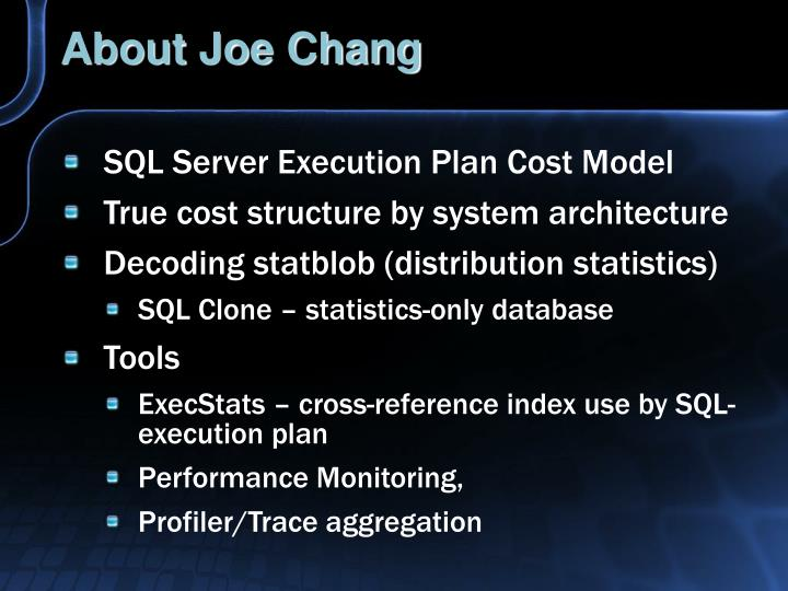 About joe chang