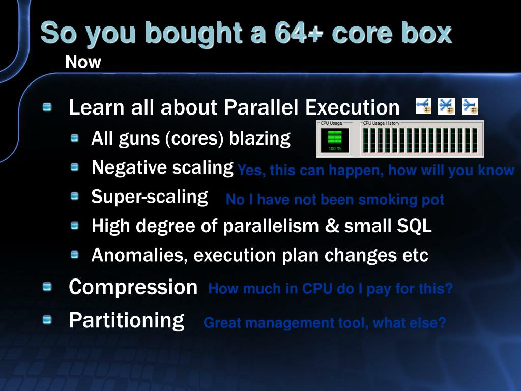 So you bought a 64+ core box