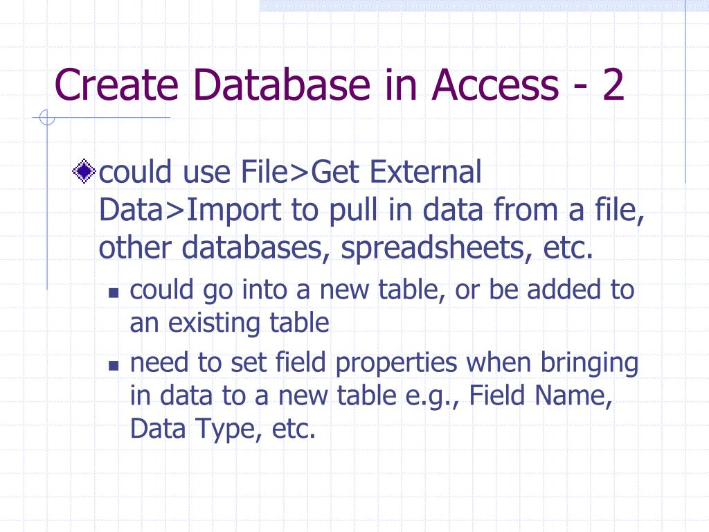 Create Database in Access - 2