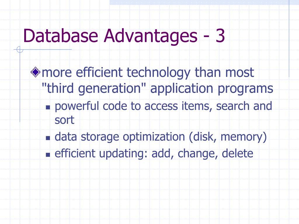 Database Advantages - 3