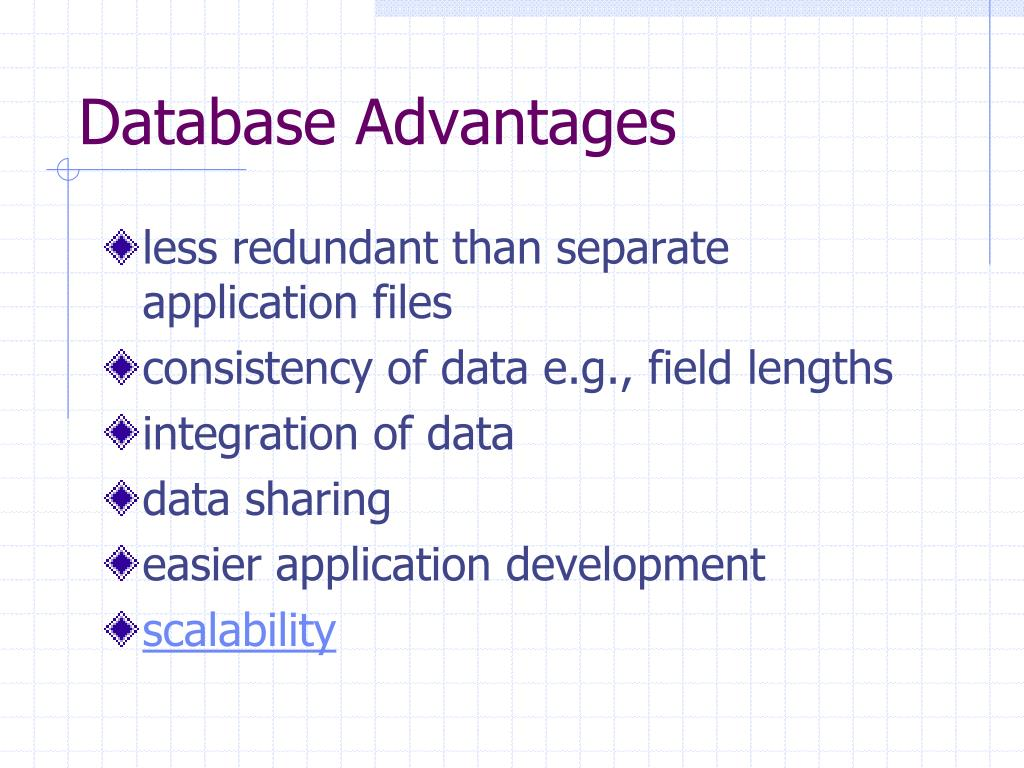 Database Advantages
