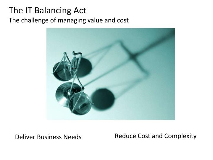 The IT Balancing Act