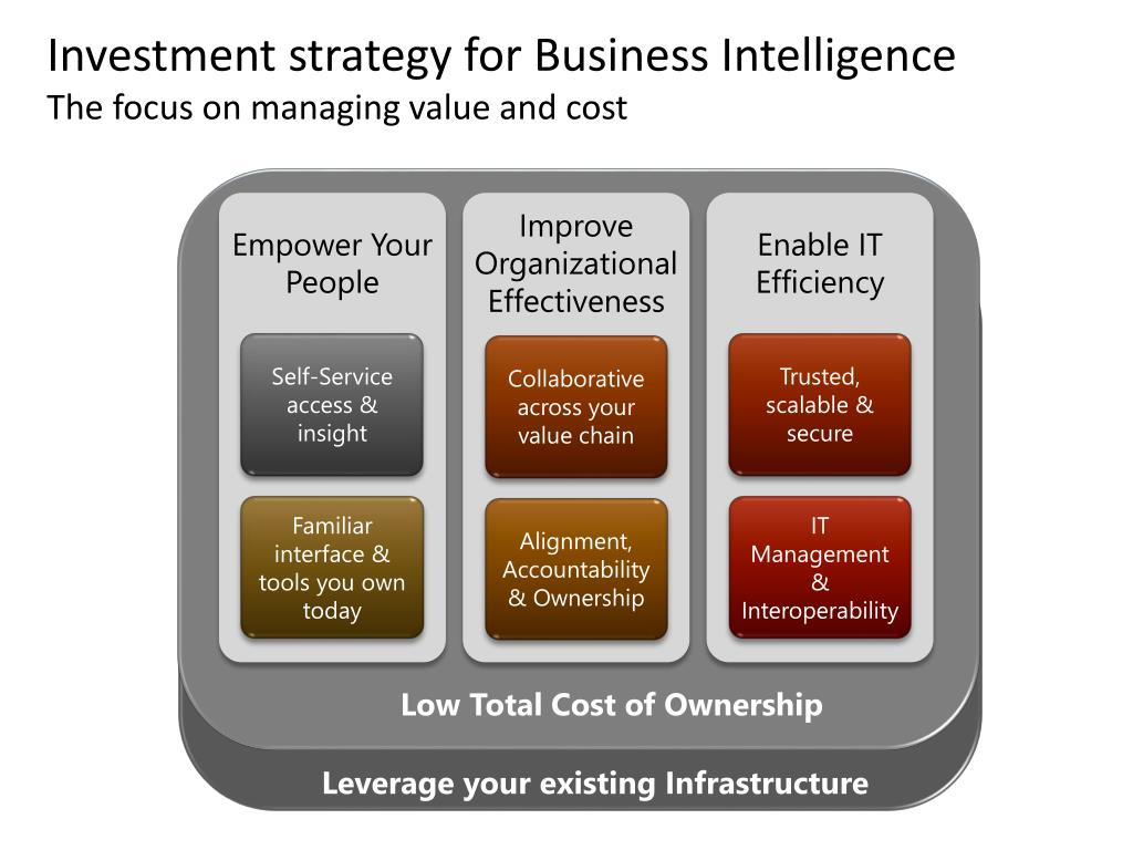 Investment strategy for Business Intelligence