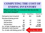computing the cost of ending inventory1