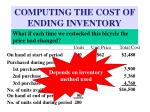 computing the cost of ending inventory2
