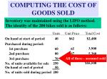 computing the cost of goods sold13