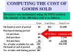 computing the cost of goods sold6