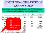 computing the cost of goods sold8