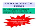 effect of inventory errors13