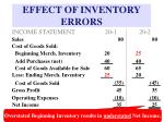 effect of inventory errors17