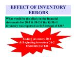 effect of inventory errors6