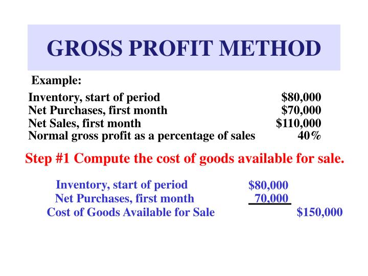 GROSS PROFIT METHOD