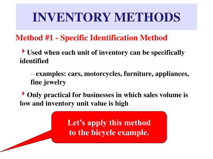 INVENTORY METHODS