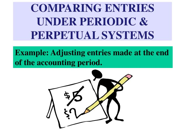 COMPARING ENTRIES UNDER PERIODIC & PERPETUAL SYSTEMS