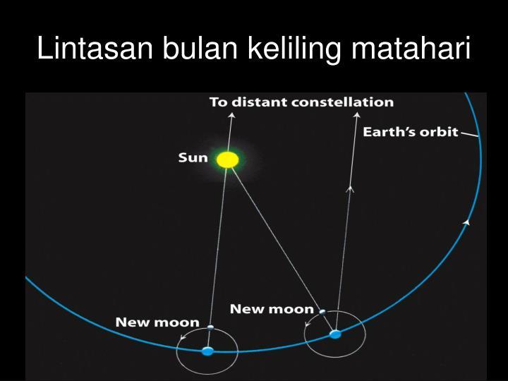 Lintasan bulan keliling matahari