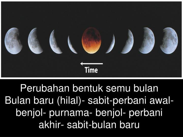 Perubahan bentuk semu bulan