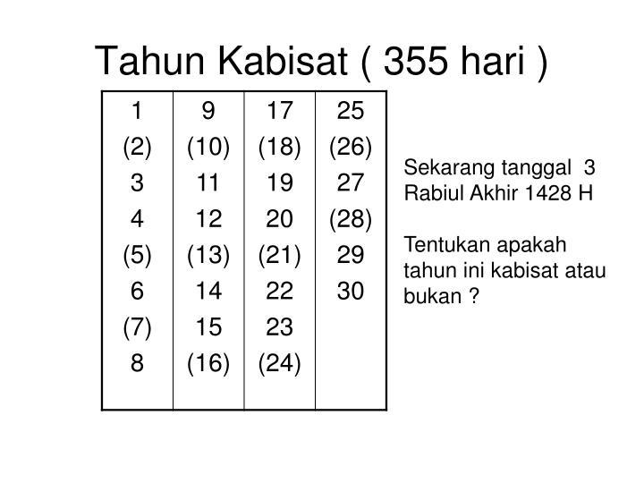 Tahun Kabisat ( 355 hari )