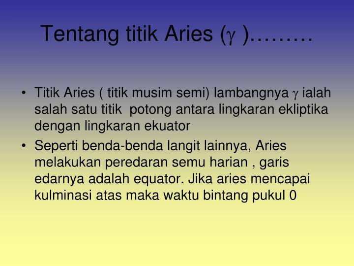 Tentang titik Aries (