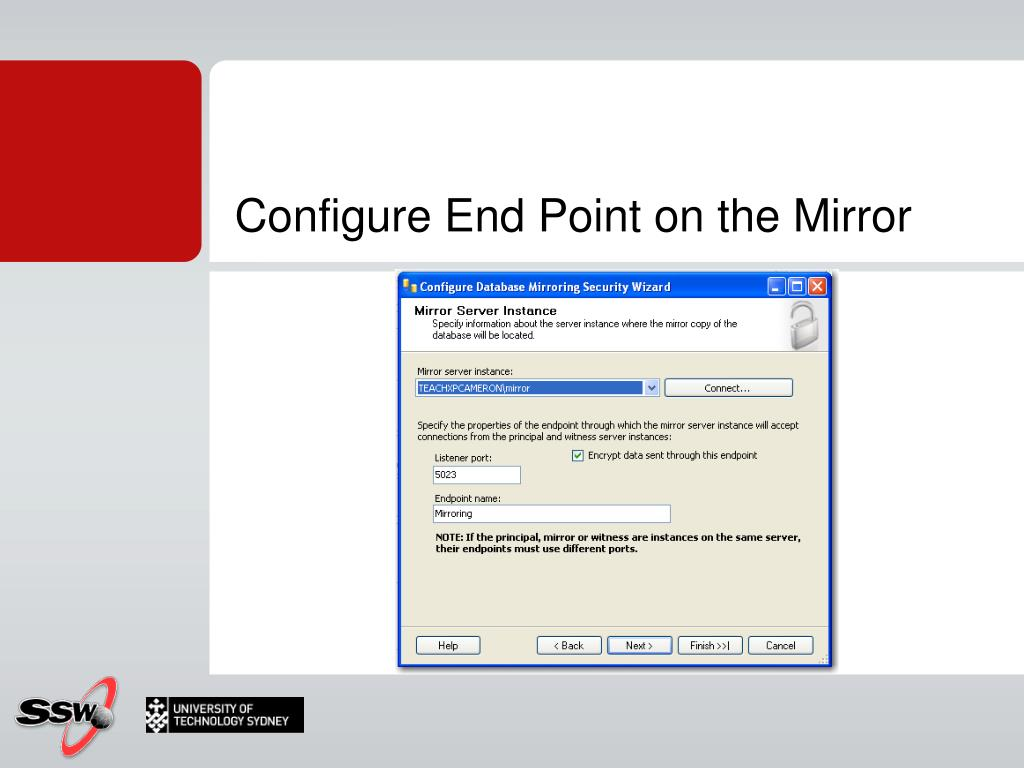 Configure End Point on the Mirror