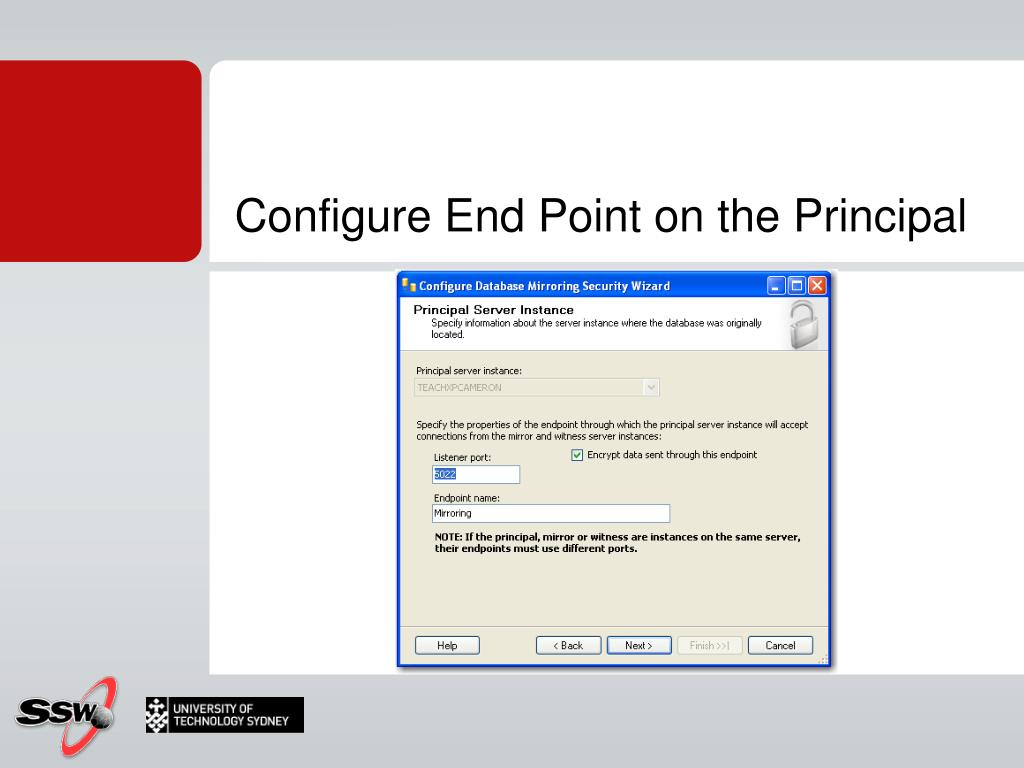 Configure End Point on the Principal