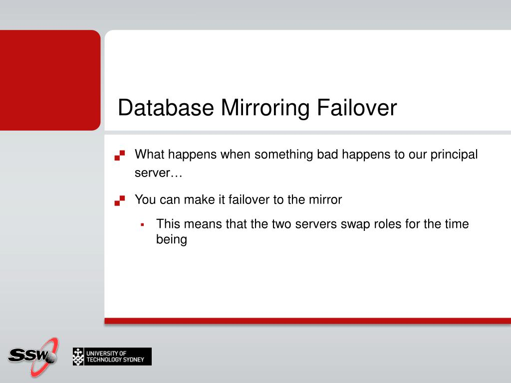 Database Mirroring Failover