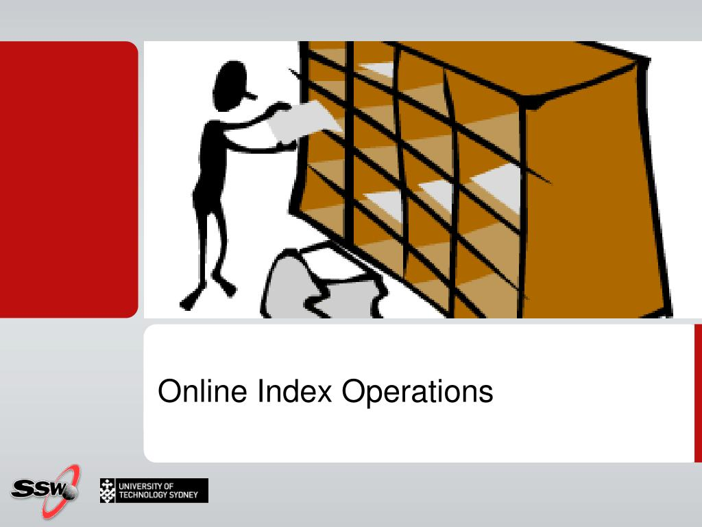 Online Index Operations