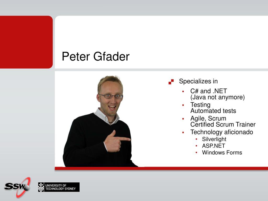 Peter Gfader
