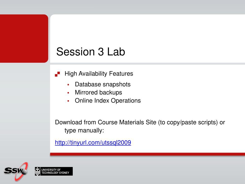 Session 3 Lab