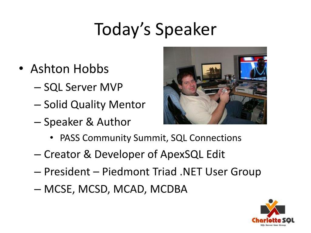 Today's Speaker