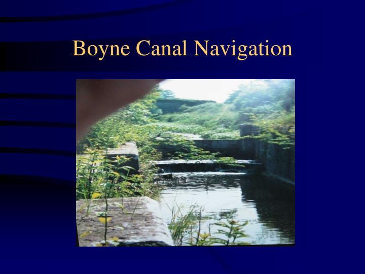 Boyne Canal Navigation