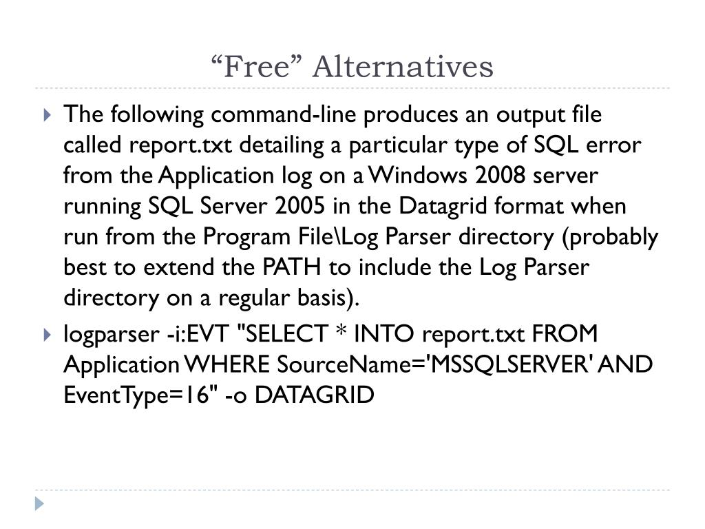 """Free"" Alternatives"