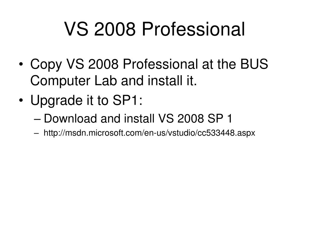 VS 2008 Professional