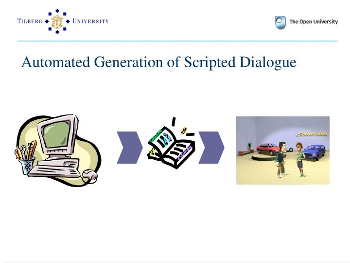 Automated Generation of Scripted Dialogue