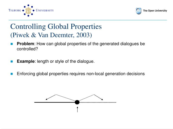 Controlling Global Properties