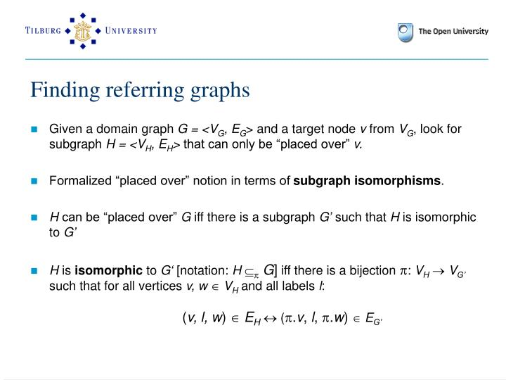 Finding referring graphs