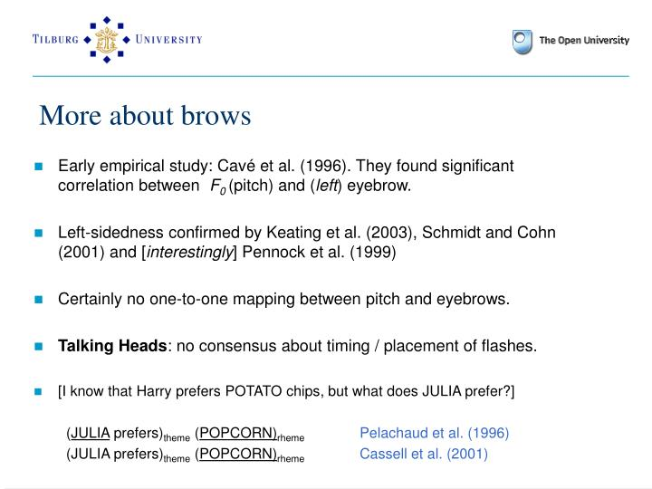 More about brows
