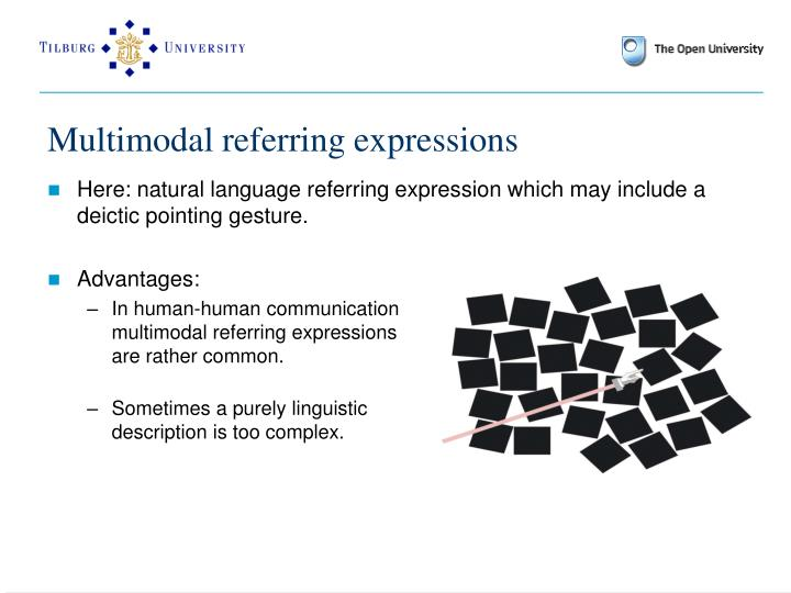 Multimodal referring expressions