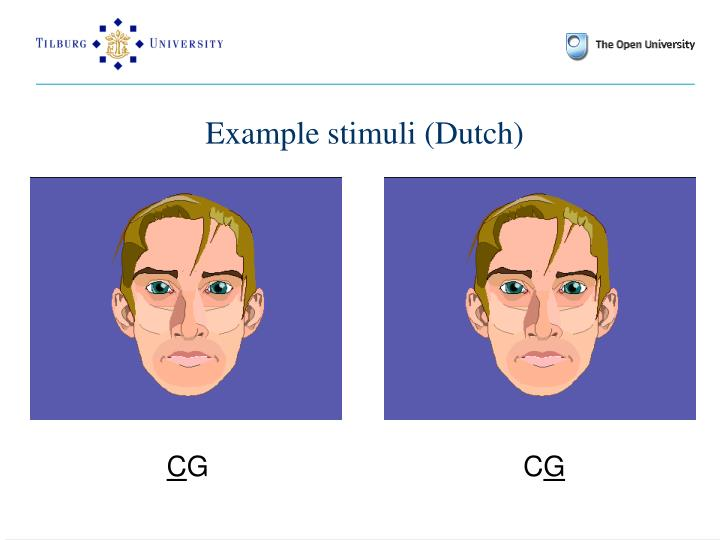 Example stimuli (Dutch)