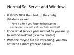 normal sql server and windows