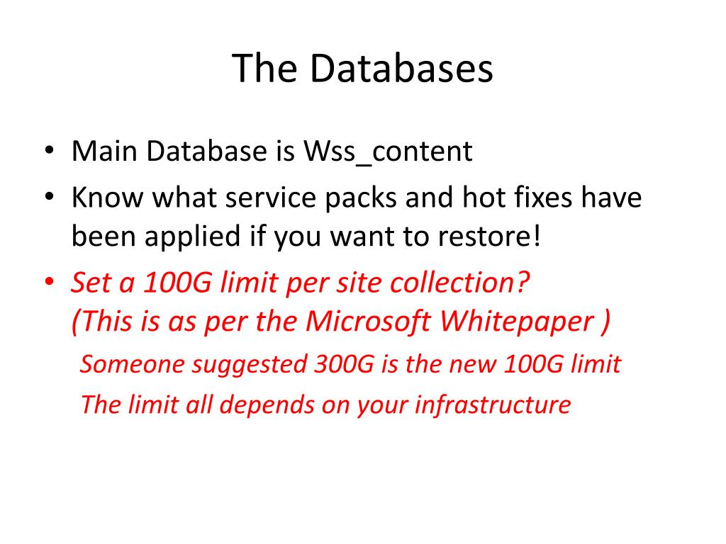 The Databases