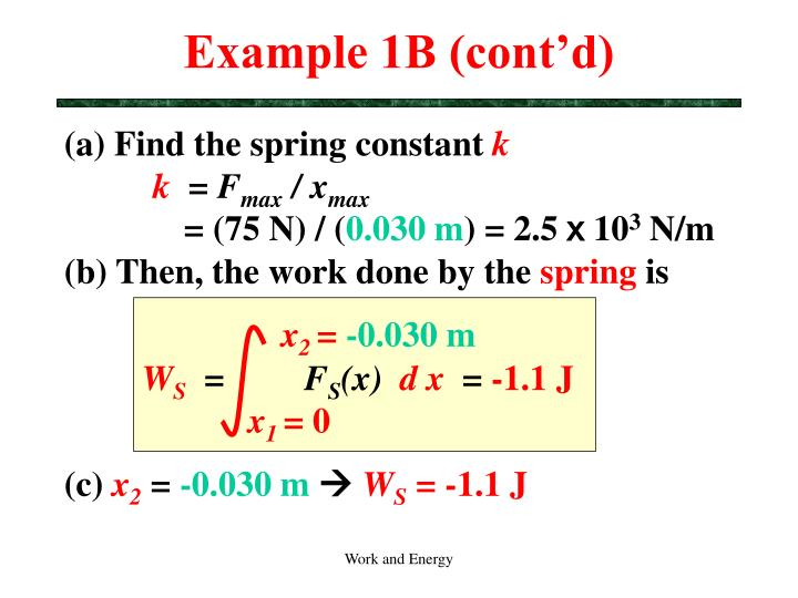 Example 1B (cont'd)