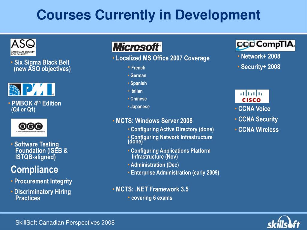 Courses Currently in Development