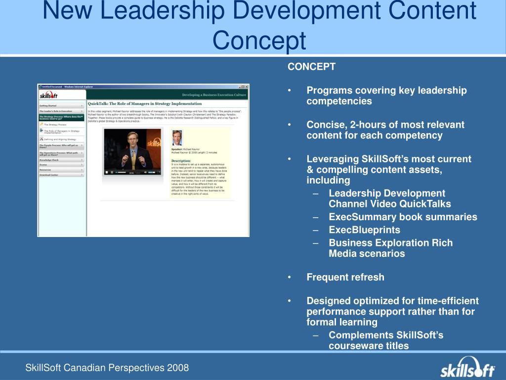 New Leadership Development Content Concept