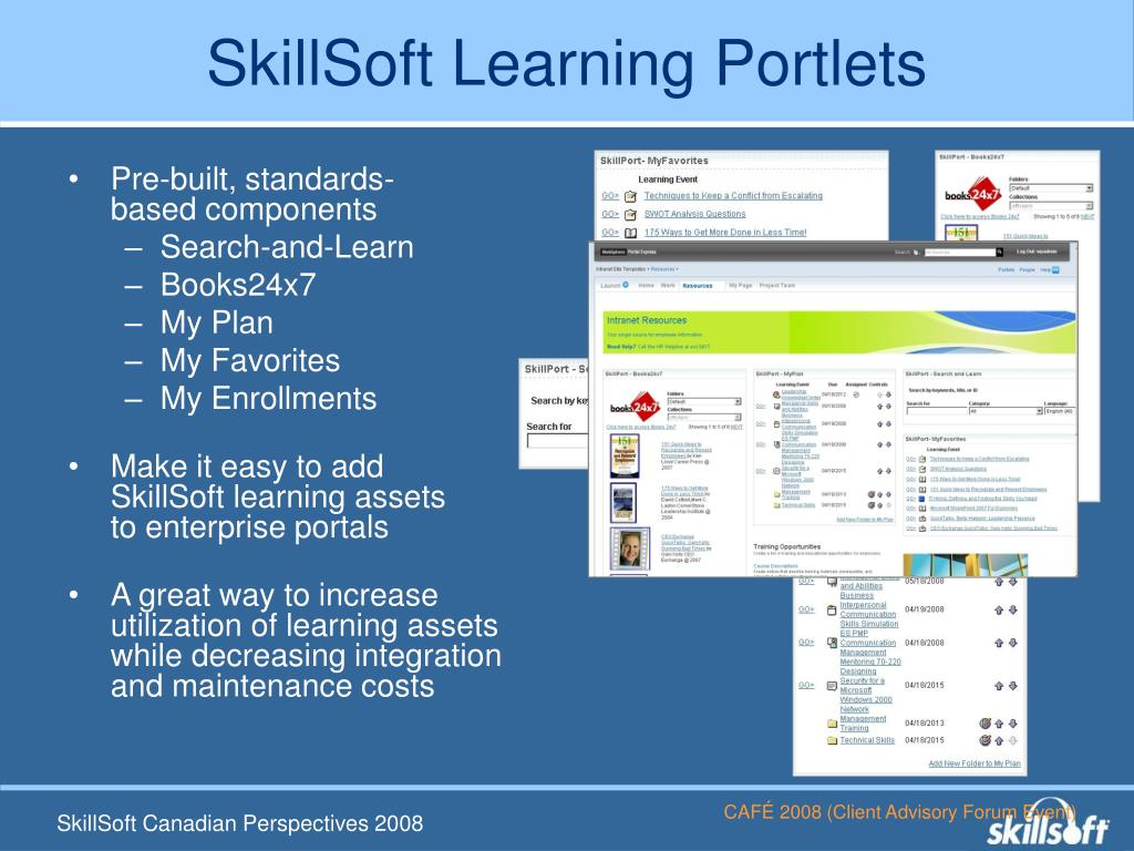 SkillSoft Learning Portlets