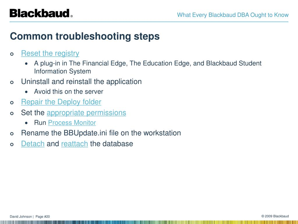 Common troubleshooting steps