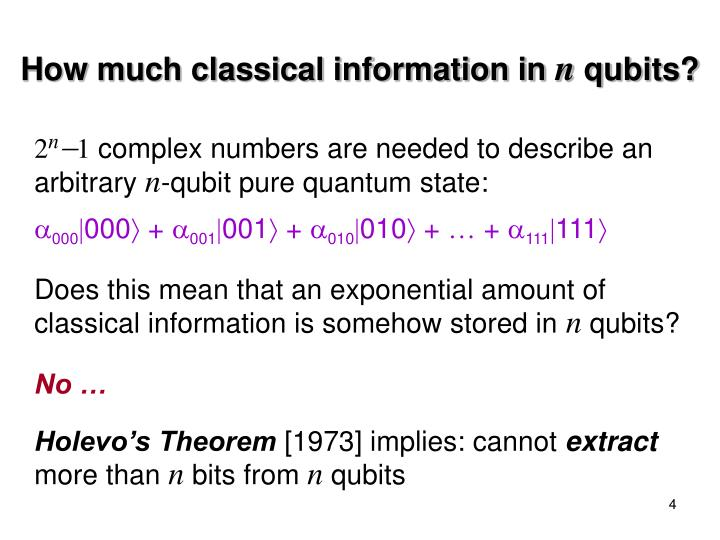 How much classical information in
