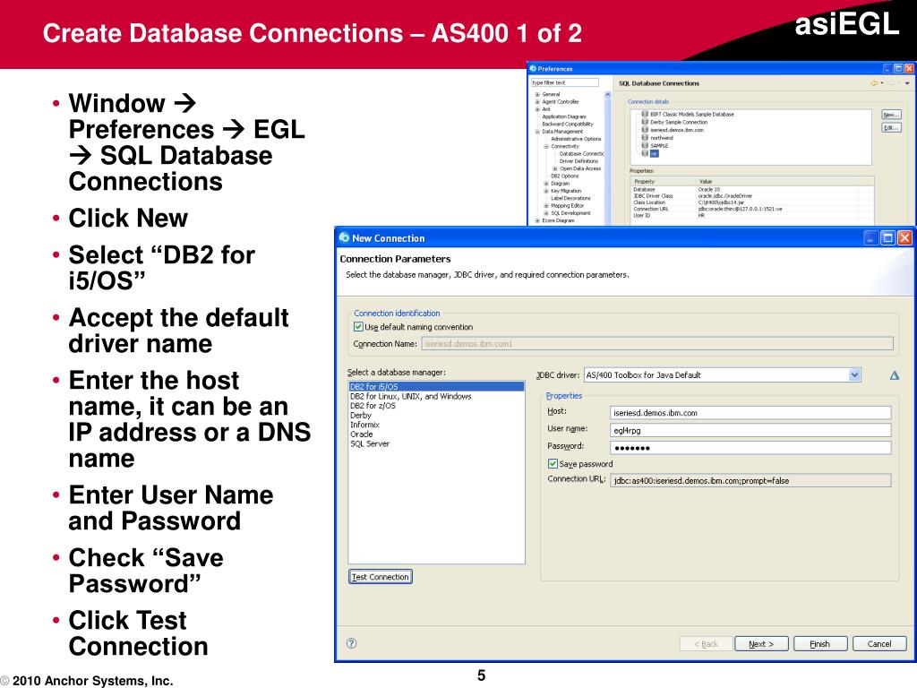 Create Database Connections – AS400 1 of 2