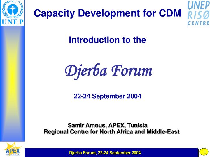Capacity Development for CDM